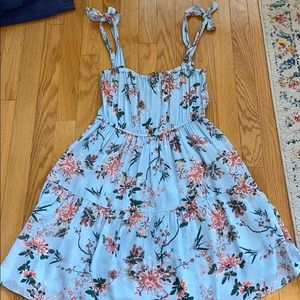 Light blue floral dress!